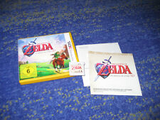 The Legend of Zelda: Ocarina of Time 3d para Nintendo 3ds con instrucciones, etc.