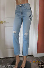 ALEXA CHUNG for AG SABINE High Rise 18Y Patched with Love Jeans Size 24 ~NWT~