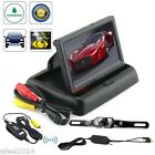 "Car Rear View System Wireless Backup Camera Night Vision + 4.3"" TFT LCD Monitor"