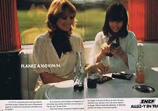 PUBLICITE ADVERTISING 045 1979 SNCF Flanez à 160km/h  (2 pages)