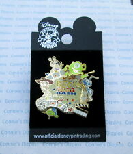 BLOCK PARTY BASH CA DLR 50th MONSTERS INC BOO MIKE WOODY LGM FLIK Disney 3D Pin