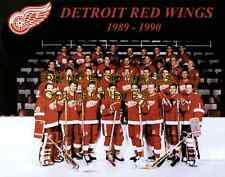 1990 DETROIT RED WINGS TEAM PHOTO 8X10