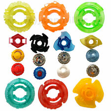 Beyblade Randomized Variety Parts Pack Lot Spin Tracks Metal Plastic Tips Rings