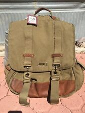 A. Kurtz Colonel Maplewood Courier Military Backpack Army Green Canvas & Leather