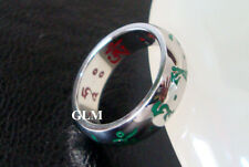 Feng Shui = 2016 Red & Green Tara Ring (Stainless Steel) Size 7
