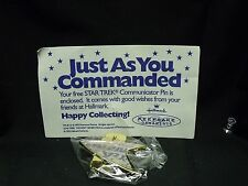 "1995 Hallmark Star Trek Communicator Pin ""Just As You Commanded"" MIP"