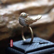 Bague Petit Oiseau Strass Tres Mignon  Original Soirée Mariage Cadeau Z3