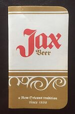 VTG OLD POCKET NOTE BOOK PAD JAX BEER JACKSON BREWING CO ADVERTISING NEW ORLEANS