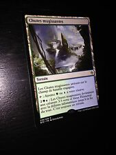 MTG MAGIC BATTLE FOR ZENDIKAR LUMBERING FALLS (FRENCH CHUTES MUGISSANTES) NM