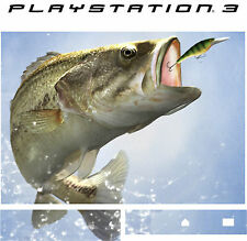 PlayStation 3 PS3 BASSO PESCA FISHING Adesivo In Vinile Sottile