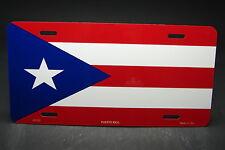 PUERTO RICO FLAG METAL NOVELTY CAR LICENSE PLATE TAG Bandera del puertorriqueño