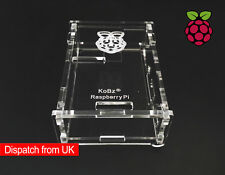 New Raspberry Pi Model B+ 2B Computer Clear Case Box Transparent Acrylic Cover
