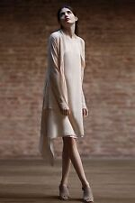 NWT Eileen Fisher Drape Back Ballet Neck Silk Dress, Alabaster, $400, Small S