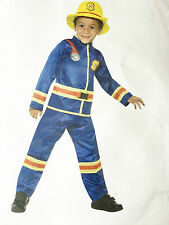 FIREMAN ROLE PLAY COSTUME FANCY DRESS, CHILDREN BIRTHDAY PARTY AGE 9-11