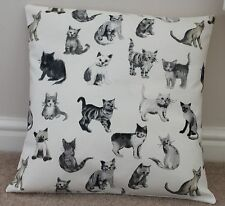 """COOL CATS FABRIC CUSHION COVER 16 x 16"""" Cotton"""