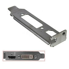 1x Low Profile Bracket Mount Adapter HDMI DVI Port For Half Height Graphics Card