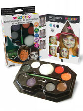 Snazaroo Professional Face Painting Paint 50 Faces Make Up Guide Halloween Kit