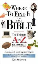 Where to Find It in the Bible (A to Z Series)-ExLibrary