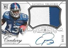 2014 National Treasures Odell Beckham Jr. Auto 2 Color Patch Rc Serial # 64/99