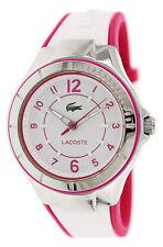 Lacoste Acapulco Steel Womens Fashion Strap Watch White & Pink Quartz 2000802