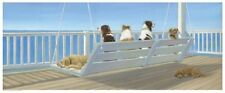 DOG ART PRINT Tails on a Porch Swing Carol Saxe