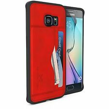 NEW GHOSTEK STASH IMPACT HYBRID WALLET CREDIT CARD CASE/ SAMSUNG GALAXY S6 EDGE