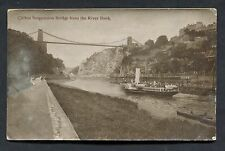 C1910 View of a Steam Paddle Boat & Clifton Suspension Bridge.
