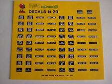 DECALS KIT 1/43 TARGHE FERRARI 250LM DINO 365 330 400 275 500 DECALS N.29