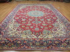 Ca1930s VE DY ANTIQUE PERSIAN HABIBIYAN DESIGN NAEIN NAIN 9x12 ESTATE SALE RUG