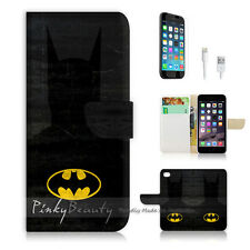 "iPhone 6 Plus (5.5"") Print Flip Wallet Case Cover! Super Hero Batman P0128"