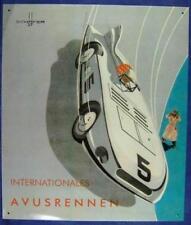 Altes Blechschild Oldtimer Avus Autorennen Berlin Werbung Reklame gebraucht used