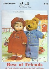 VAT Free 12 Teddy Doll Outfits KNITTING PATTERNS ONLY Teddy Book Best of Friends