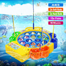 Adult Child Kid Summer Fun Time Fishing Electric Rotating Music Educational Toy