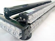 DOUBLE FLOOR FOUR SIDE 324W LED WORK LIGHT BAR BEACON WARNING STROBE AMBER&WHITE