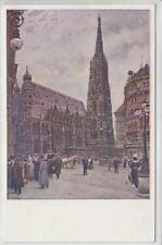 AK Wien I, Künstler Ernst Graner, Stefansplatz 1910