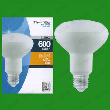 2x 11W (=100W) R80 LED Energy Saving Reflector Spotlight Bulb ES E27 Light Lamps