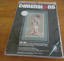 May UNG Ling Counted Cross Stitch Kit Linen Oriental Lady Dimension 9x16