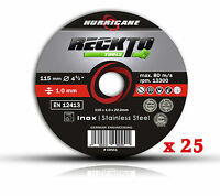 """25  Stainless Steel Metal Cutting Disc 1mm Discs 115mm Angle Grinder 4 1/2"""" Thin"""