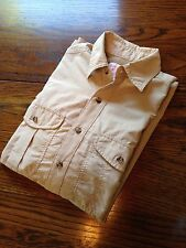 FILSON Beige Guide Fishing Shirt Lightweight Vented Size S Small Nice!