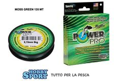 POWER PRO FILO TRECCIATO MT 135  0,15 MOSS GREEN originale USA