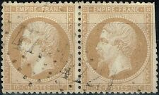 FRANCE PAIRE EMPIRE N° 21 OBLITERATION GC 4721 SERQUIGNY EURE