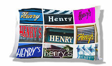 Personalized Pillowcase featuring the name HENRY in photos of signs