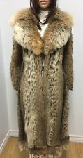 CAT LYNX FUR  COAT LYNX FUR  COLLAR FULL LENTH 45'' Sz.M Lynx cat- Рысь n173