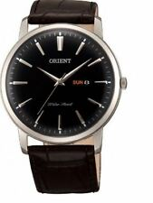 Orient FUG1R002B6 Black Dial Black Leather Band Men's Watch