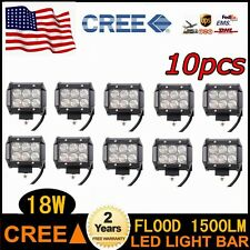 10X 18W Cree Led Work Light Flood Beam Offroad For Truck SUV Boat 4WD POD CAR