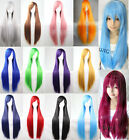 Hot Sexy 80cm Long Straight Wig Fashion Cosplay Costume Anime Hair Full Wig Hair