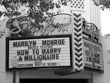 Old Photo. Palo Alto, CA. Stanford Movie Theater - MARILYN MONROE