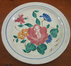 Redwing Orleans 1 Dinner Plate Provincial Pottery Hand Painted Floral Blue Ring
