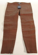 Ralph Lauren Brown Lamb Leather Skinny Pants Sz.12 29x29 Nwt $1298 C3A
