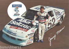 "1991 JIMMY MEANS ""ALKA-SELTZER"" #52 NASCAR WINSTON CUP SERIES POSTCARD"